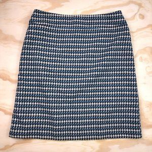 Talbots Houndstooth Wool A-Line Skirt
